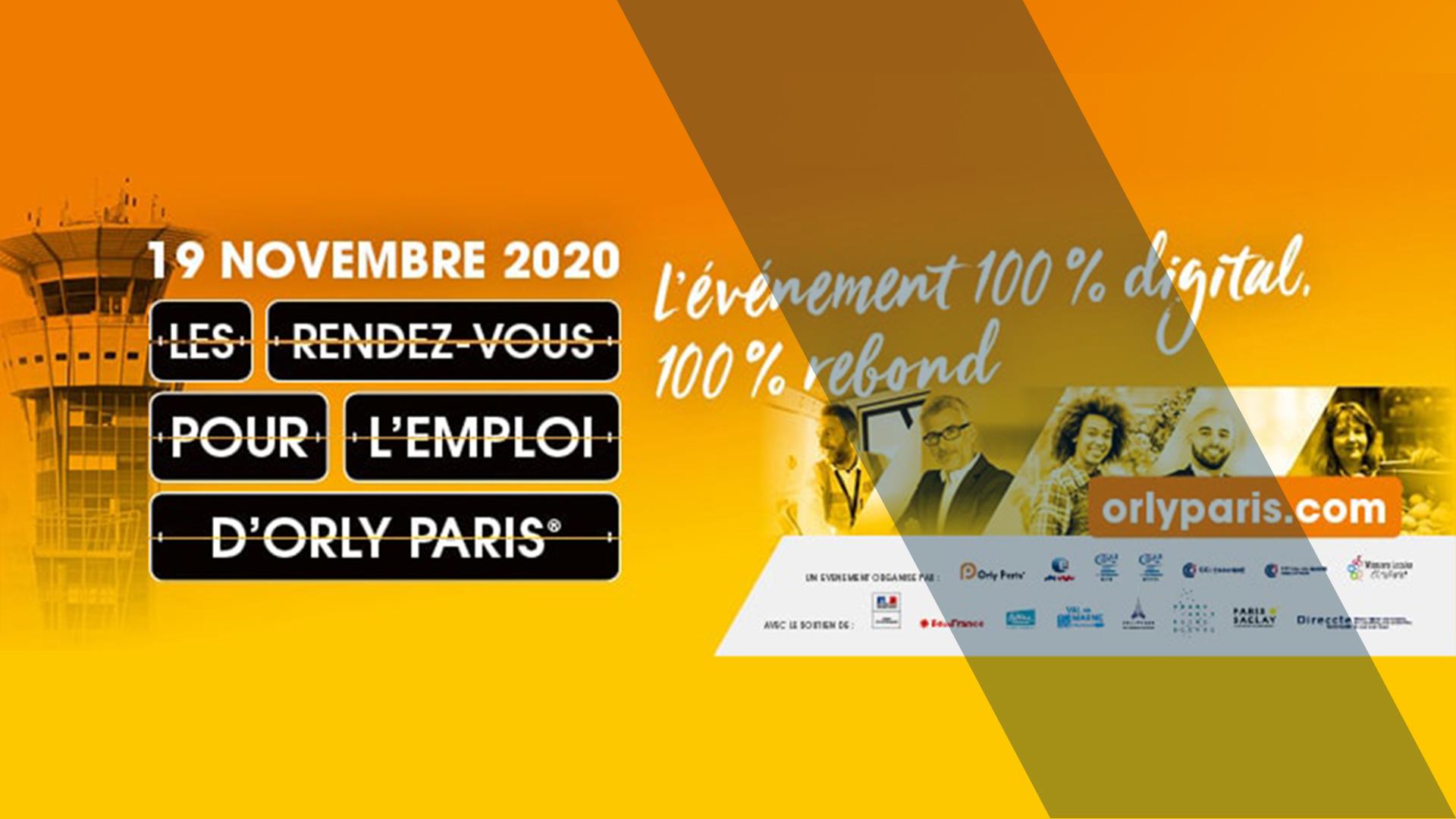 9e RDV pour l'emploi Orly Paris en digital : c'est le moment de vous inscrire !
